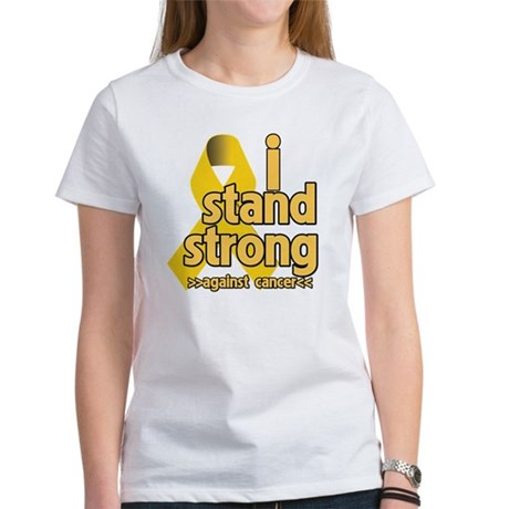 I Stand Childhood Cancer Women's T-Shirt