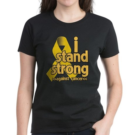 I Stand Childhood Cancer Women's Dark T-Shirt