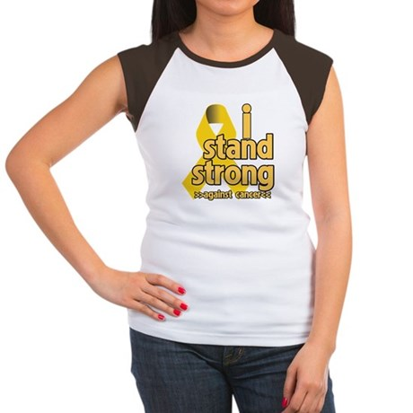 I Stand Childhood Cancer Women's Cap Sleeve T-Shir