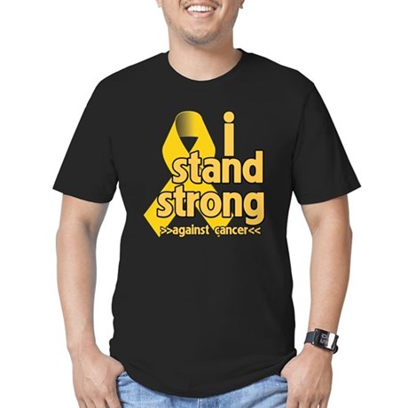 I Stand Childhood Cancer Men's Fitted T-Shirt (dar
