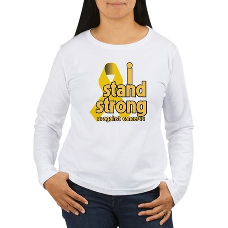 I Stand Childhood Cancer Women's Long Sleeve T-Shi