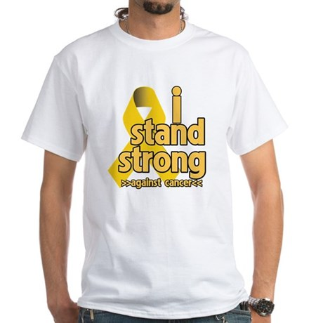 I Stand Childhood Cancer White T-Shirt