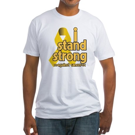 I Stand Childhood Cancer Fitted T-Shirt