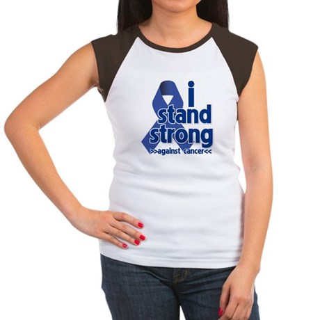 I Stand Colon Cancer Women's Cap Sleeve T-Shirt
