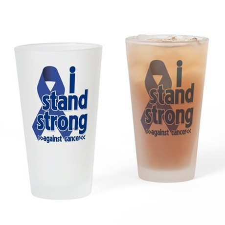 I Stand Colon Cancer Drinking Glass