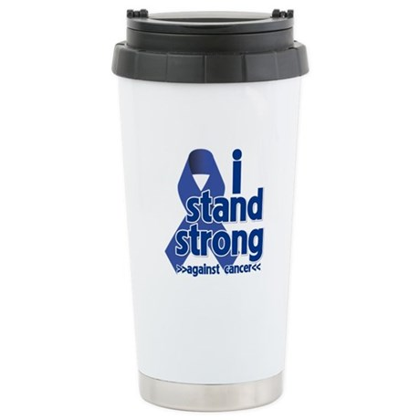I Stand Colon Cancer Ceramic Travel Mug