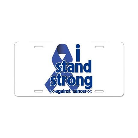 I Stand Colon Cancer Aluminum License Plate