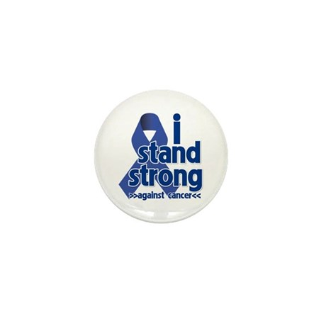 I Stand Colon Cancer Mini Button (10 pack)