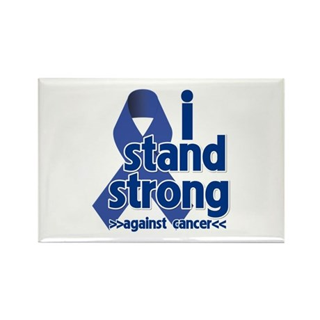 I Stand Colon Cancer Rectangle Magnet