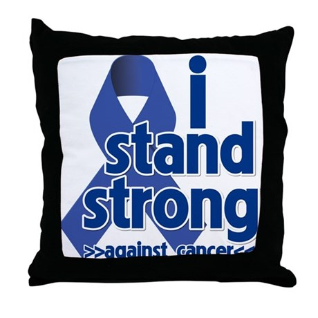I Stand Colon Cancer Throw Pillow