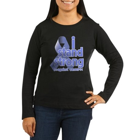 I Stand Esophageal Cancer Women's Long Sleeve Dark