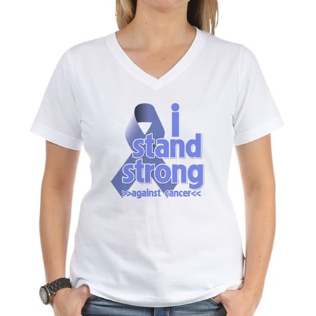 I Stand Esophageal Cancer Women's V-Neck T-Shirt