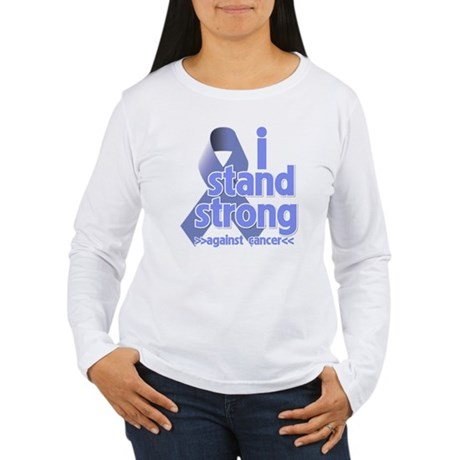 I Stand Esophageal Cancer Women's Long Sleeve T-Sh