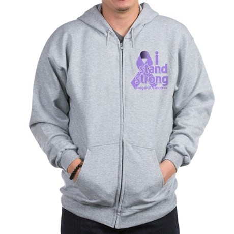 I Stand General Cancer Zip Hoodie