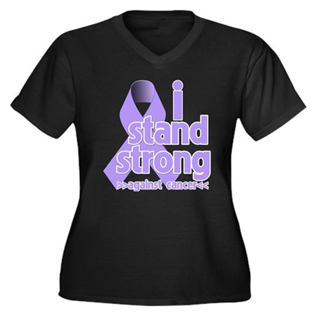 I Stand General Cancer Women's Plus Size V-Neck Da