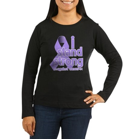 I Stand General Cancer Women's Long Sleeve Dark T-