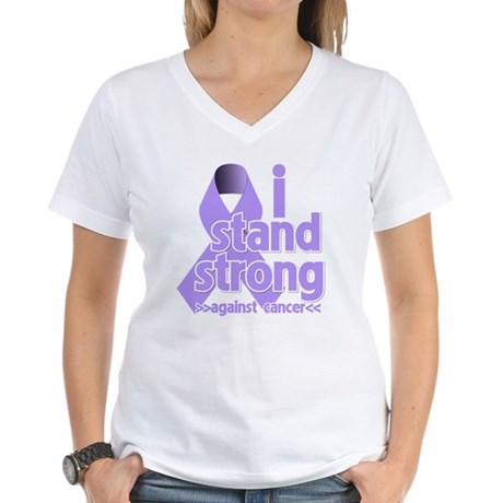 I Stand General Cancer Women's V-Neck T-Shirt