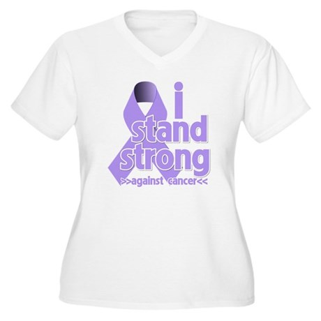 I Stand General Cancer Women's Plus Size V-Neck T-