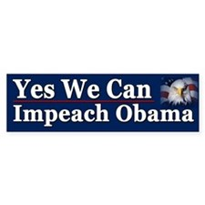 Yes We Can impeach Obama Car Sticker