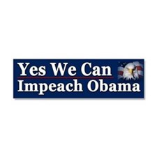 Yes We Can impeach Obama Car Magnet 10 x 3