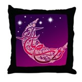 Ramadan Kareem Crescent Throw Pillow