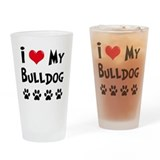 English bulldog Pint Glasses