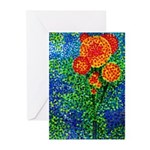 Pointilist Flower - Greeting Cards (Pk of 10)