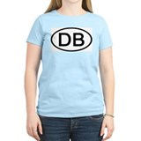 DB - Initial Oval Women's Pink T-Shirt