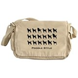 Poodle Styles: Black Messenger Bag