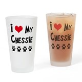 I Love My Chessie Drinking Glass