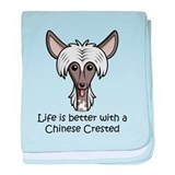Chinese Crested baby blanket