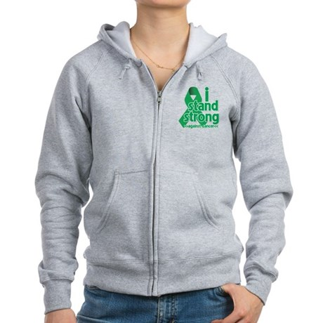 I Stand Liver Cancer Women's Zip Hoodie