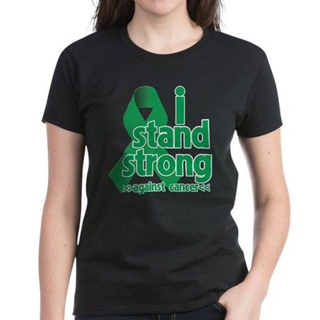 I Stand Liver Cancer Women's Dark T-Shirt