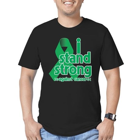 I Stand Liver Cancer Men's Fitted T-Shirt (dark)