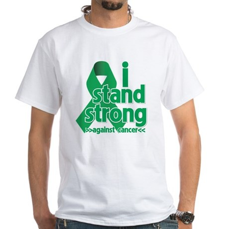 I Stand Liver Cancer White T-Shirt