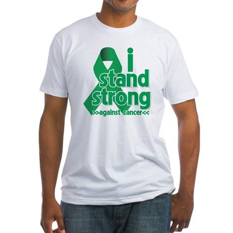 I Stand Liver Cancer Fitted T-Shirt