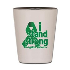 I Stand Liver Cancer Shot Glass