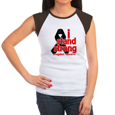 I Stand Strong Melanoma Women's Cap Sleeve T-Shirt