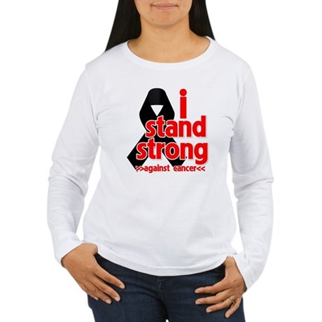 I Stand Strong Melanoma Women's Long Sleeve T-Shir