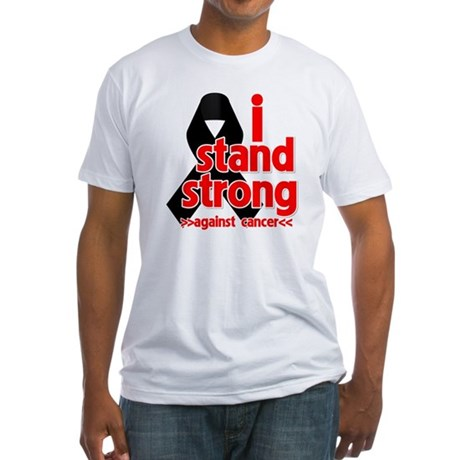 I Stand Strong Melanoma Fitted T-Shirt