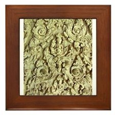 Brahma in Stucco at Angkor Wa Framed Tile