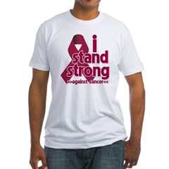 I Stand Multiple Myeloma Fitted T-Shirt