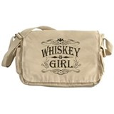 Vintage Whiskey Girl Messenger Bag