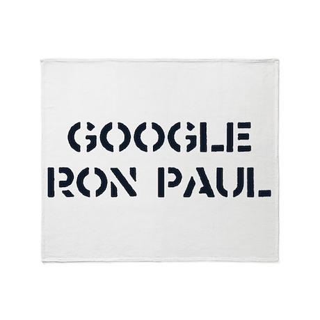 Google Ron Paul Throw Blanket