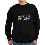 Peace, Love, Bull Terriers Sweatshirt (dark)