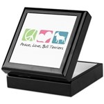 Peace, Love, Bull Terriers Keepsake Box