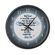 John 3:16 Large Wall Clock