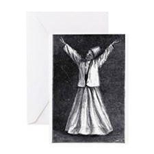 Whirling Sufi Dervish Greeting Card