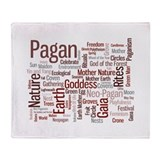 Pagan Words Throw Blanket