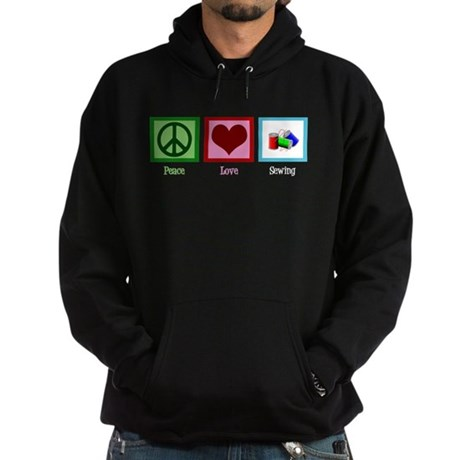 Peace Love Sewing Hoodie (dark)